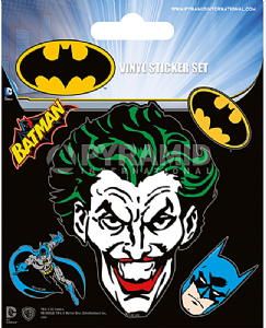 Pack of 5 Batman vinyl peel off decals / stickers    (py)